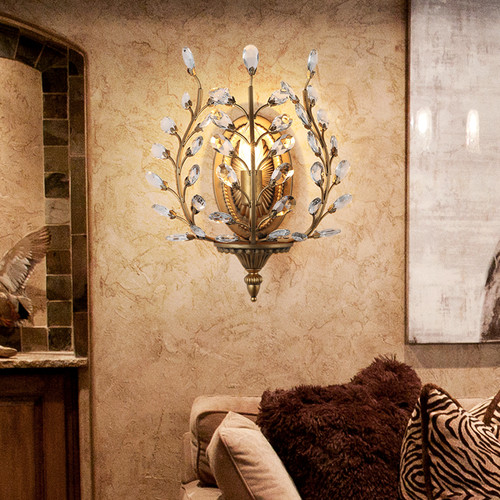 European Modern LED Wall Lamp Retro Crystal Luxury Romantic Background Corridor from Singapore best online lighting shop horizon lights