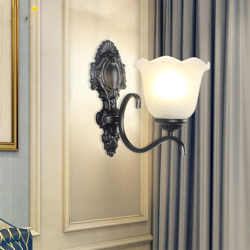 2PCS American Style LED Wall Lamp Metal E27 Single/Double Lamp Living Room Corridor from Singapore best online lighting shop horizon lights