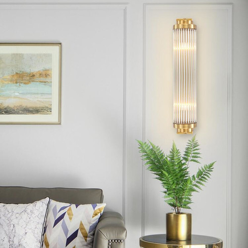 Modern LED Wall Lamp Crystal Cone Lampshade Copper Lamp Bedroom Decor from Singapore best online lighting shop horizon lights