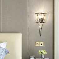Modern LED Wall Lamp Crystal Lampshade Lamp Bedroom Living Room Decor from Singapore best online lighting shop horizon lights
