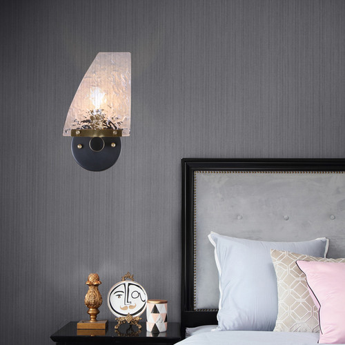 Modern LED Wall Lamp Glass Sheet Shade Copper Lamp Living Room Bedroom Decor  from Singapore best online lighting shop horizon lights