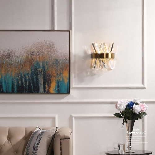 Modern LED Wall Lamp Luxury Crystal Shade LED Chip Lamp Living Room Bedroom Decor from Singapore best online lighting shop horizon lights