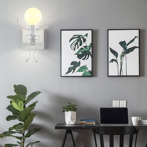Modern LED Wall Lamp Metal Doll Lamp Bedroom Chrildren's Room Decor from Singapore best online lighting shop horizon lights