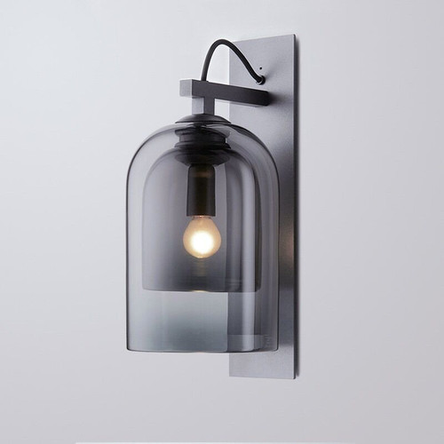 Modern LED Wall Lamp Double-Deck Glass Shade Lamp Bedroom Decor from Singapore best online lighting shop horizon lights