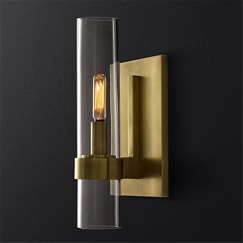 Modern LED Wall Lamp Glass Shade Copper Lamp Bedroom Hotel Decor from Singapore best online lighting shop horizon lights