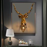 American LED Wall Lamp Gold/Silver Resin Deer Head Light Home Decoration from Singapore best online lighting shop horizon lights