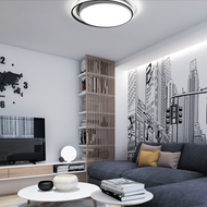 Modern LED Ceiling Lamp Round Creative Black/White Bedroom Workshop Decor from Singapore best online lighting shop horizon lights