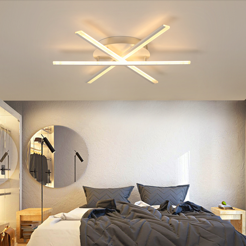 Modern LED Ceiling Light Fan-shaped Aluminum Acrylic Lights Beautiful  Bedroom Living room Decor from Singapore best online lighting shop horizon lights