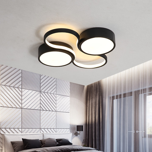 Modern LED Ceiling Light Circle Round Combination Acrylic Black/White Bedroom Living room Decor from Singapore best online lighting shop horizon lights
