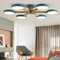 Modern LED Ceiling Light Metal Wood Macaron Colorful Children Room Bedroom Decor from Singapore best online lighting shop horizon lights