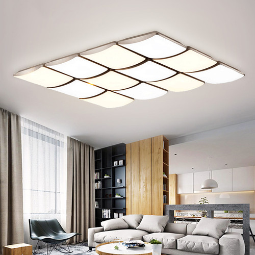 Modern LED Ceiling Lamp Acrylic Square Remote Control Lamp Living Room Bedroom Decor from Singapore best online lighting shop horizon lights