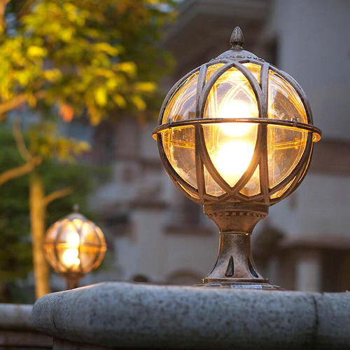 2PCS LED Garden Lamp Waterproof Sphere Aluminum Outdoor Lamp Gate Landscape Villa Decor from Singapore best online lighting shop horizon lights
