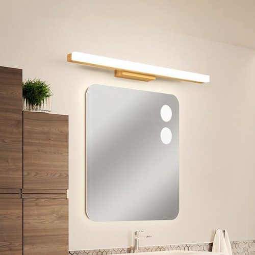 Modern LED Mirror Wall Light Wood Strip Light Bathroom Light Fixtures For Home Lighting Decor  from Singapore best online lighting shop horizon lights