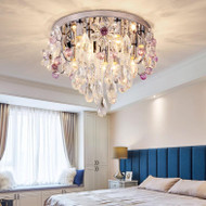 European LED Ceiling Light Luxury Crystal Shade Light Romantic Home Hotel Decor from Singapore best online lighting shop horizon lights