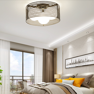 Modern LED Ceiling Light Glass Ball Shade Metal Frame Light Bedroom Living Room Study from Singapore best online lighting shop horizon lights