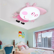 Modern LED Ceiling Light Resin Peppa Pig Colorful Protect Eyes Children room Bedroom from Singapore best online lighting shop horizon lights