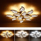 Modern LED Ceiling Light Metal Leave Acrylic Light Multi-headed Bedroom Hotel from Singapore best online lighting shop horizon lights