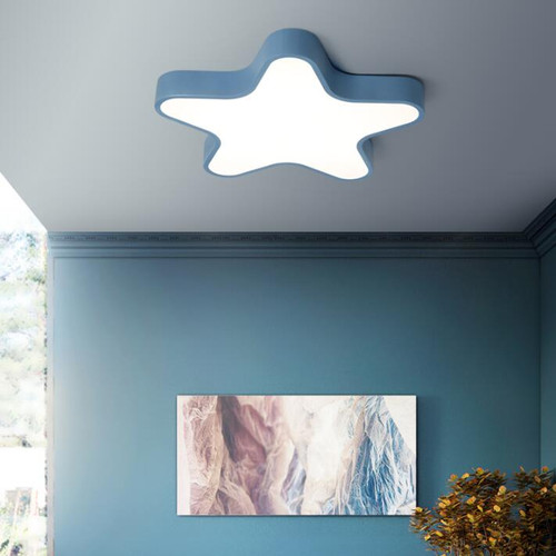 Modern LED Ceiling Light Macarons Acrylic Star Shape Luminous Kids Bedroom from Singapore best online lighting shop horizon lights