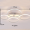 Modern LED Ceiling Light Multi-Circle Aluminum Acrylic Creative Shadow Living Room Dining Room from Singapore best online lighting shop horizon lights