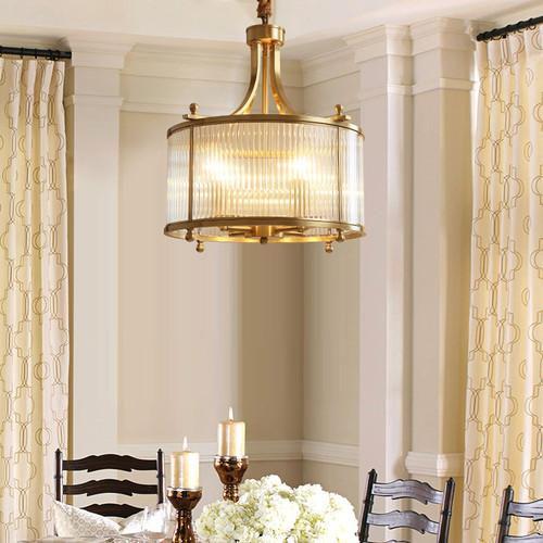 American LED Pendant Light Copper Glass Shade Light Living room from Singapore best online lighting shop horizon lights