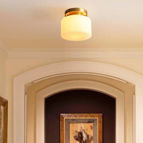 Modern LED Ceiling Light Simple Glass Shade Copper Base Corridor Dining Room from Singapore best online lighting shop horizon lights