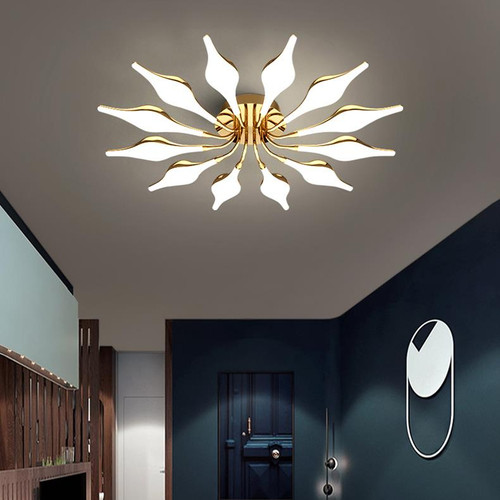 This is the front drawing. Modern LED Ceiling Light Metal Swan Flower Shade Light Living room Hotel from Singapore best online lighting shop for floor lamp, horizon lights