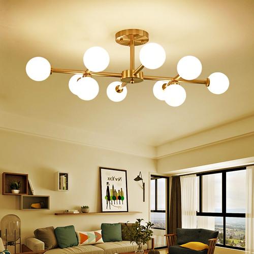 Modern LED Ceiling Light Glass Ball Shade Metal Light Living room Decor from Singapore best online lighting shop horizon lights