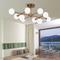 Glass Ball Shade Metal Light LED Ceiling Light Nordic Living Room Decor