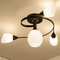 Here is the detail picture. Modern LED Ceiling Light Metal Helix Flower Shape Living room Bedroom