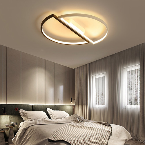 Modern LED Ceiling Light Creative Aluminum Two Semicircle Simple Home Illumination from Singapore best online lighting shop horizon lights