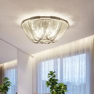 Post-modern LED Ceiling Light Aluminum Tassels Shade Luxury Home Hotel Decor from Singapore best online lighting shop horizon lights