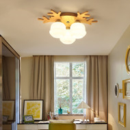 Modern LED Ceiling Light Wood Antler Light Living Room Bedroom Decor from Singapore best online lighting shop horizon lights