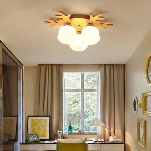 Modern LED Ceiling Light Wood Antler Light Living Room Bedroom Decor from Singapore best online lighting shop horizon lights