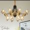 Crystal Shade Copper Light Classic LED Chandelier Light American Home Decor