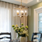 Glass Sheets Lampshade Classic LED Chandelier Light American Dining Room Restaurant Cafe Bar