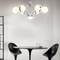 This is the scene picture. Modern LED Chandelier Light Acrylic Magic Beans Metal Shop Cafe Bar Living room from Singapore best online lighting shop horizon lights