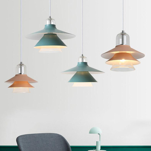 This is the scene picture. Nordic Style LED Pendant Light Pine Tree Dining Room Cafe Bar from Singapore best online lighting shop horizon lights