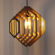 Modern LED Pendant Light Wood Geometrical Shape Restaurant Cafe Bar from Singapore best online lighting shop horizon lights