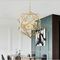 Modern LED Pendant Light Geometrical Copper Frame Shade Living room Bedroom from Singapore best online lighting shop horizon lights