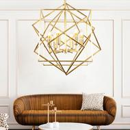 Modern LED Pendant Light Geometrical Copper Frame Shade Living room Bedroom from Singapore best online lighting shop horizon lights