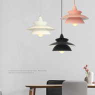 Modern LED Pendant Light Metal Macarons Colorful Single Simple Dining room Cafe from Singapore best online lighting shop horizon lights