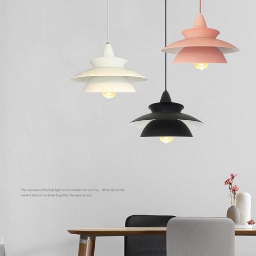 Modern LED Pendant Light Metal Macarons Colorful Single Simple Dining room Cafe from Singapore best online lighting shop horizon lights
