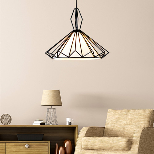 Modern LED Pendant Light Metal Frame PVC Shade Skirt Living room Dining room Decor from Singapore best online lighting shop horizon lights