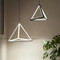 Modern LED Pendant Light Aluminum Frame Solid Triangle Cafe bar Living room Decor from Singapore best online lighting shop horizon lights