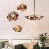 Modern LED Pendant Light Stainless steel  Irregular Shad Dining Room Cafe Bar from Singapore best online lighting shop horizon lights