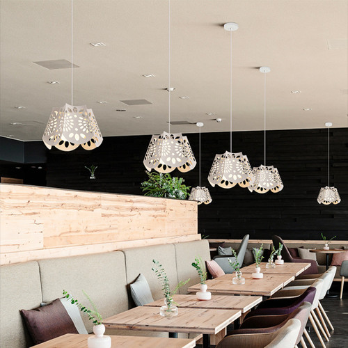 Modern LED Pendant Light Metal Hollow Shade Cafe bar Dining Room Decor from Singapore best online lighting shop horizon lights