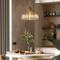 American LED Pendant Light Copper Frame Crystal Shade Bedroom Living room from Singapore best online lighting shop horizon lights