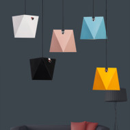 Modern LED Pendant Light Colorful Metal Geometric Shade Restaurants Living room Decor from Singapore best online lighting shop horizon lights