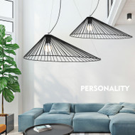 Modern LED Pendant Light Metal Frame Cap Shade Living room Decor from Singapore best online lighting shop horizon lights
