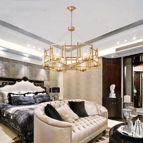 American LED Pendant Light Copper Frame Glass Shade Bedroom Living Room Decor from Singapore best online lighting shop horizon lights